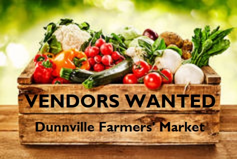Dunnville farmers market wanted sign